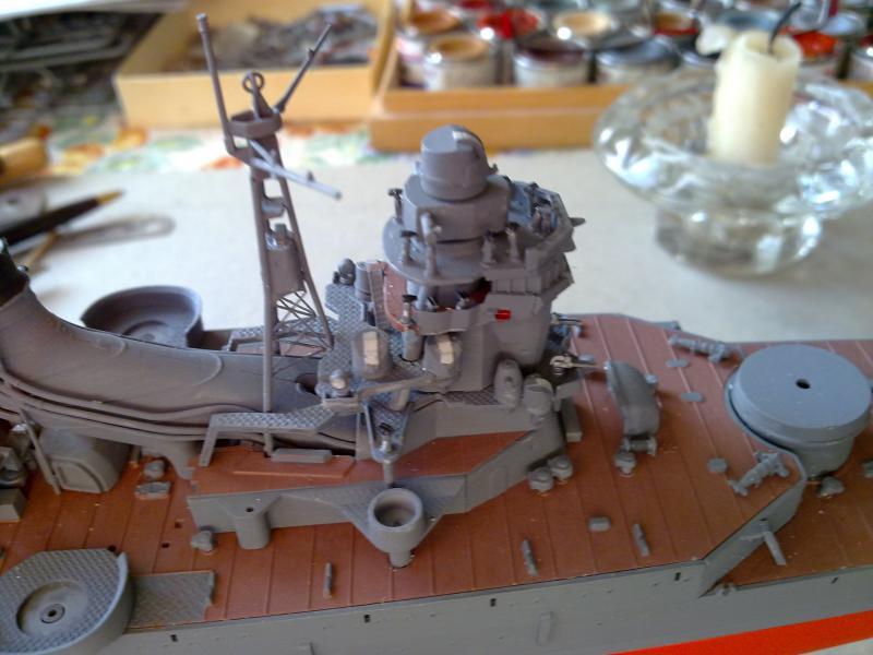 croiseur lourd Mogami au 1/350 par Pascal 94 - Tamiya  - Page 4 219356montagepasserelle4jpg
