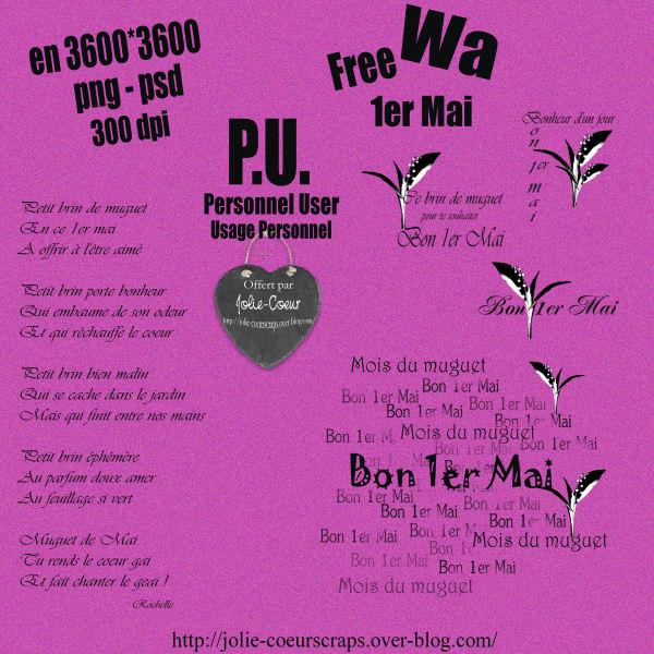 """Wa  """" Bon 1er Mai """"  223332PVWa1erMaiJolieCoeurScraps"""