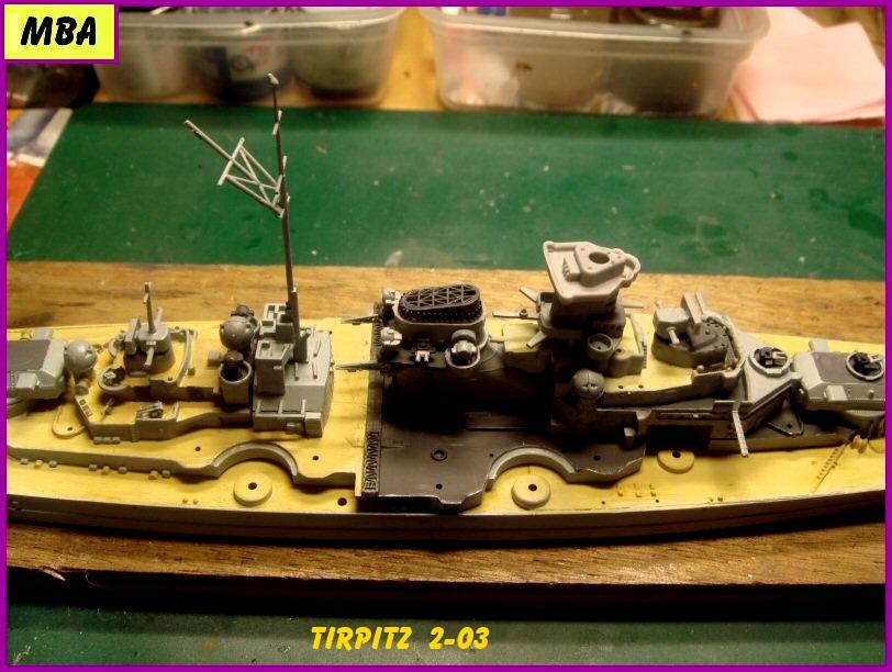 Le TIRPITZ au 1/700ème - DRAGON 223675Tirpitz203