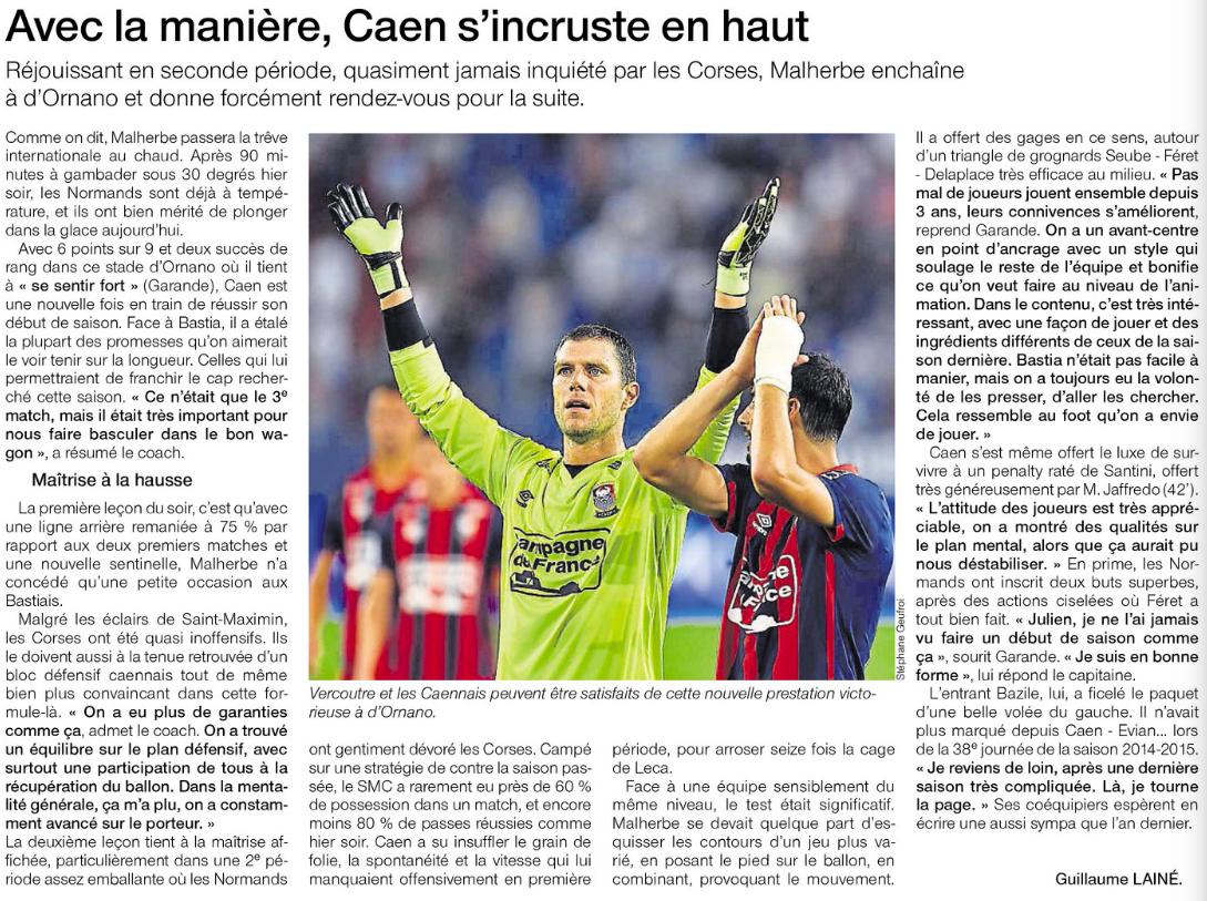 [3e journée de L1] SM Caen 2-0 SC Bastia 224416bas