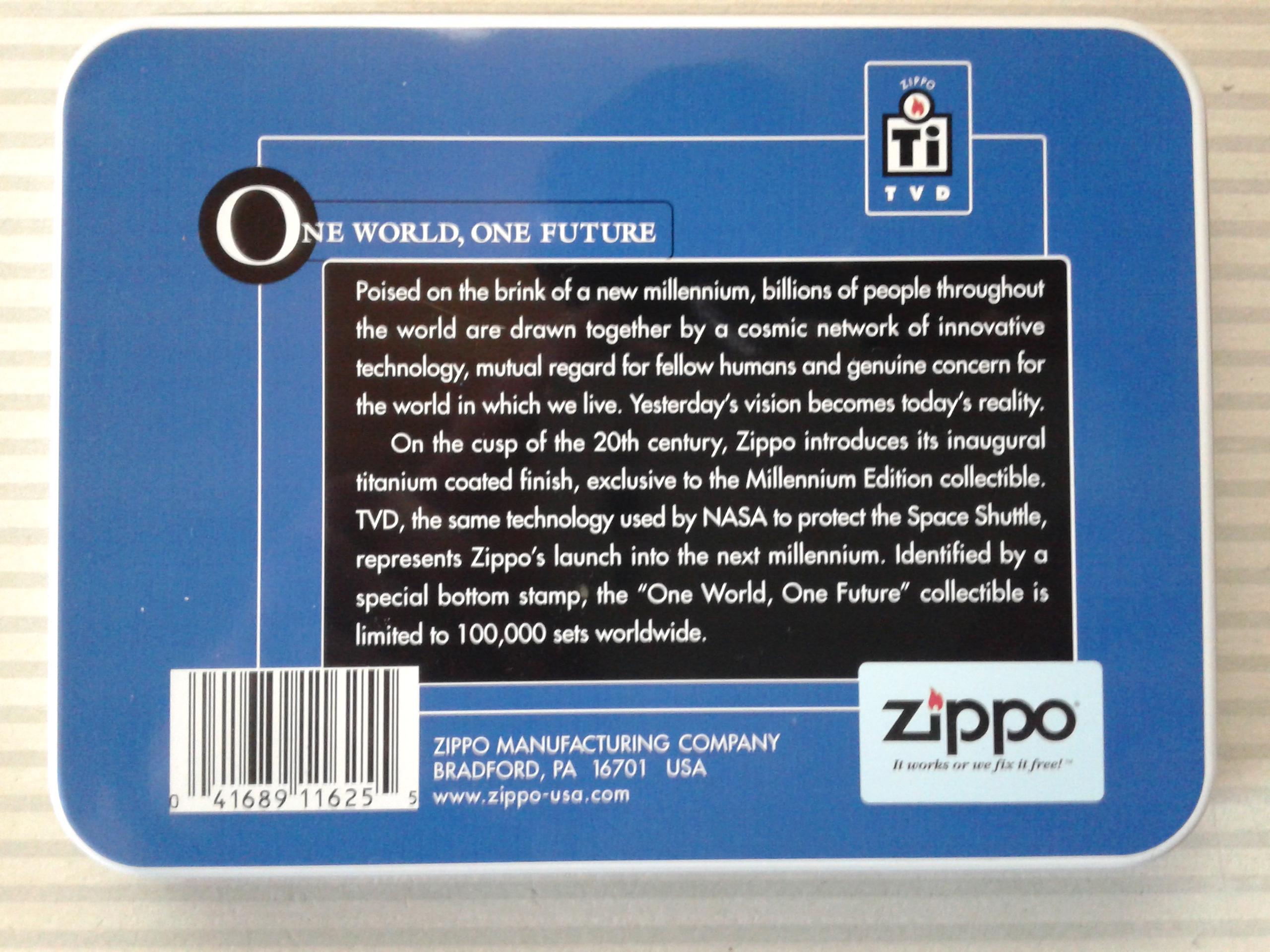 Les boites Zippo au fil du temps - Page 2 225506Titanium4