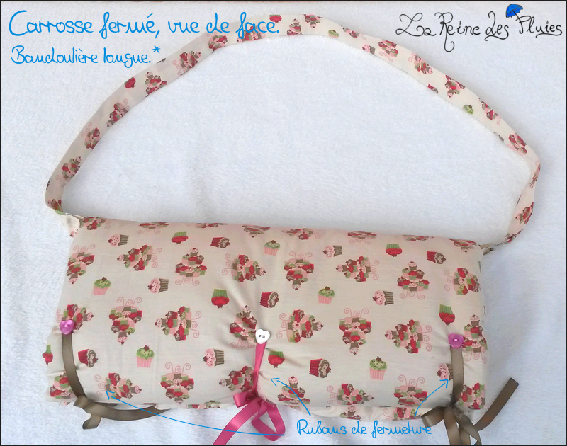 La Reine des Pluies: Carrosses pour dolls:tissus little doll 226342face