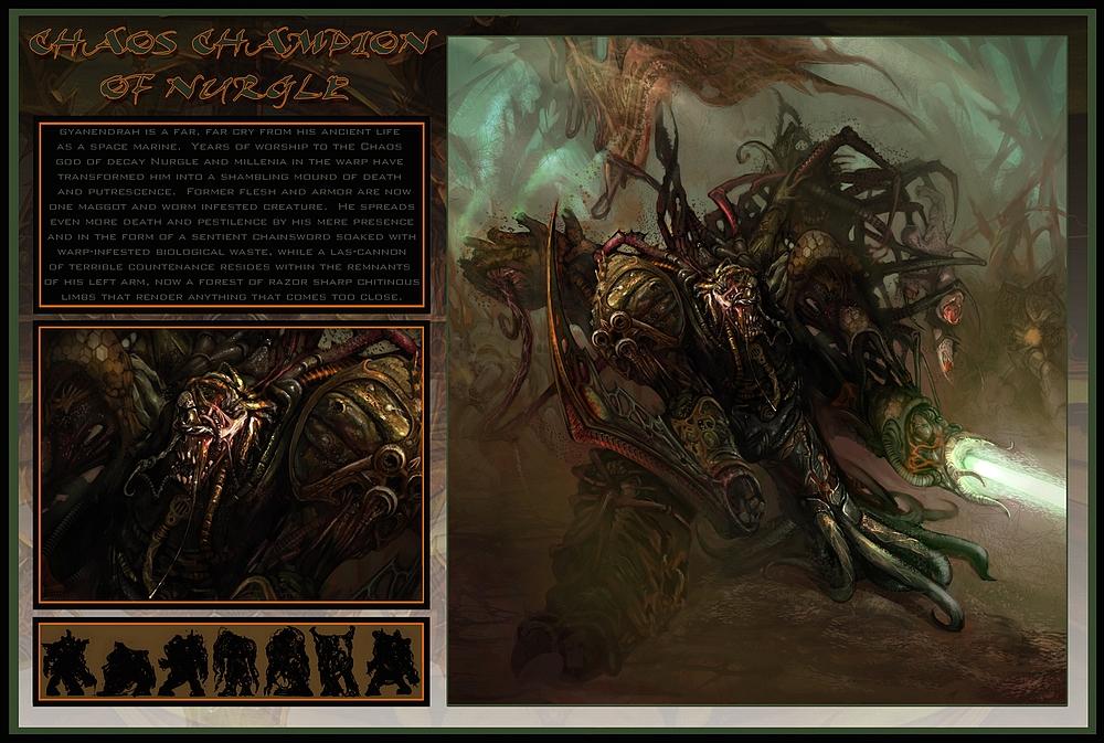 [W40K] Illustrations du Chaos - Page 4 235389ChaosChampionofNurgle