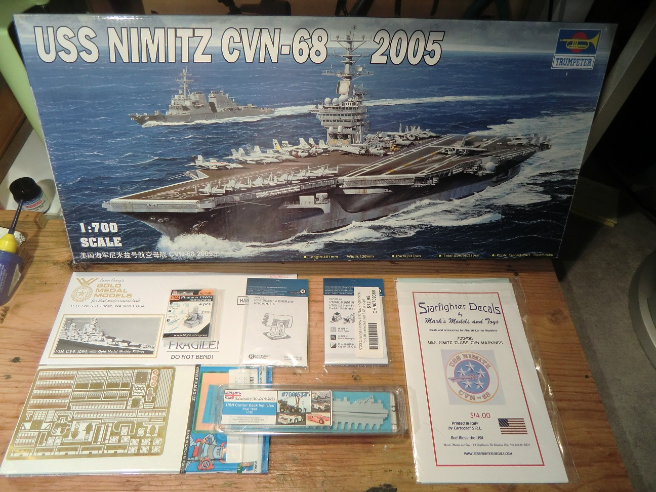 CVN 68 USS Nimitz Trumpeter 1/700  235480Nimitz1