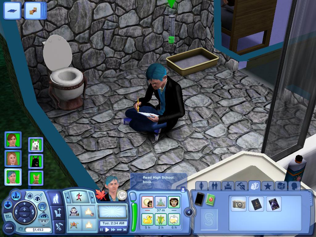 Les Sims ... Avec Kimy ! 242048Soraenloupquifaitsesdevoirsdansleschiottes