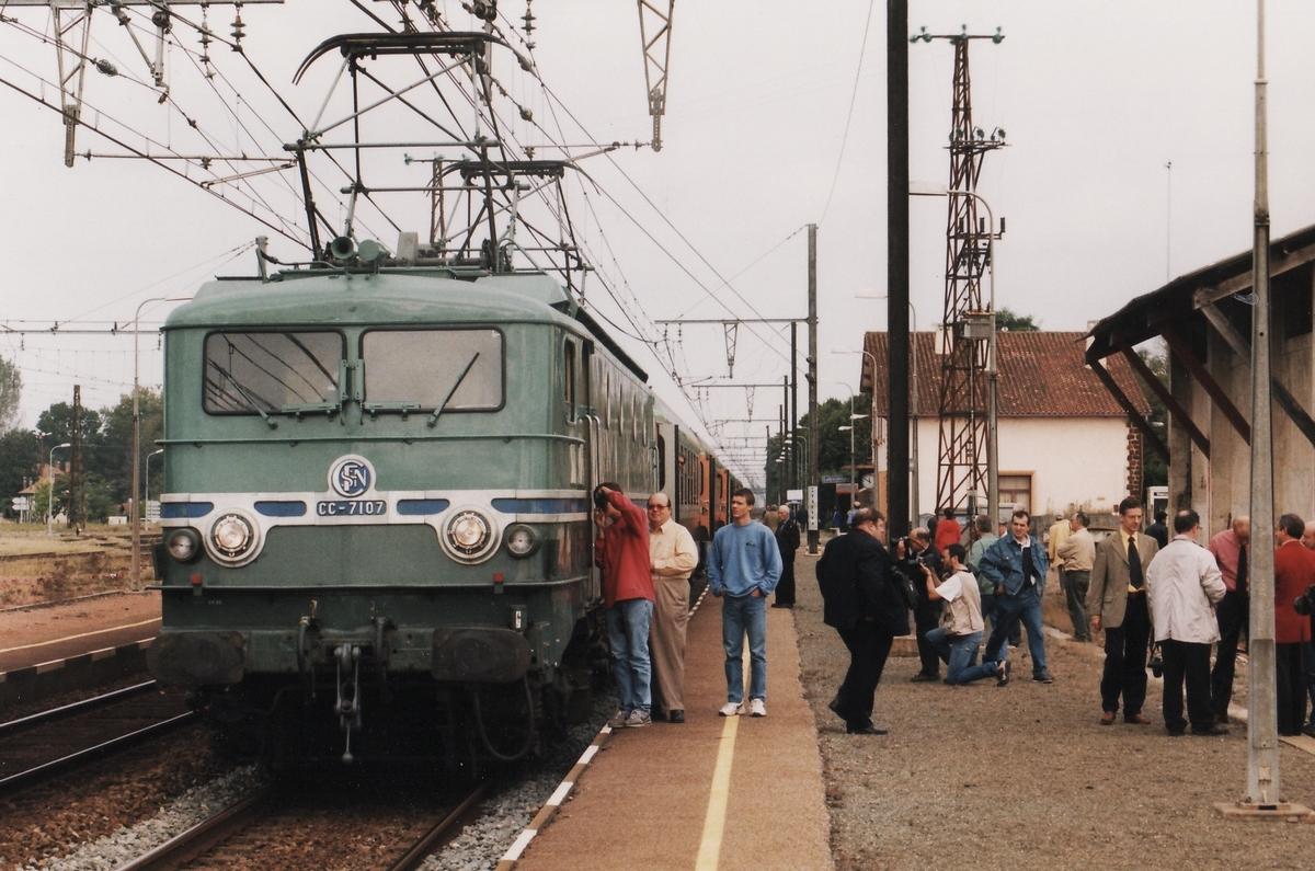 1999 - CC7107 train spécial IFC 2 octobre - Département des Landes 247665cc710719991002Ychoux