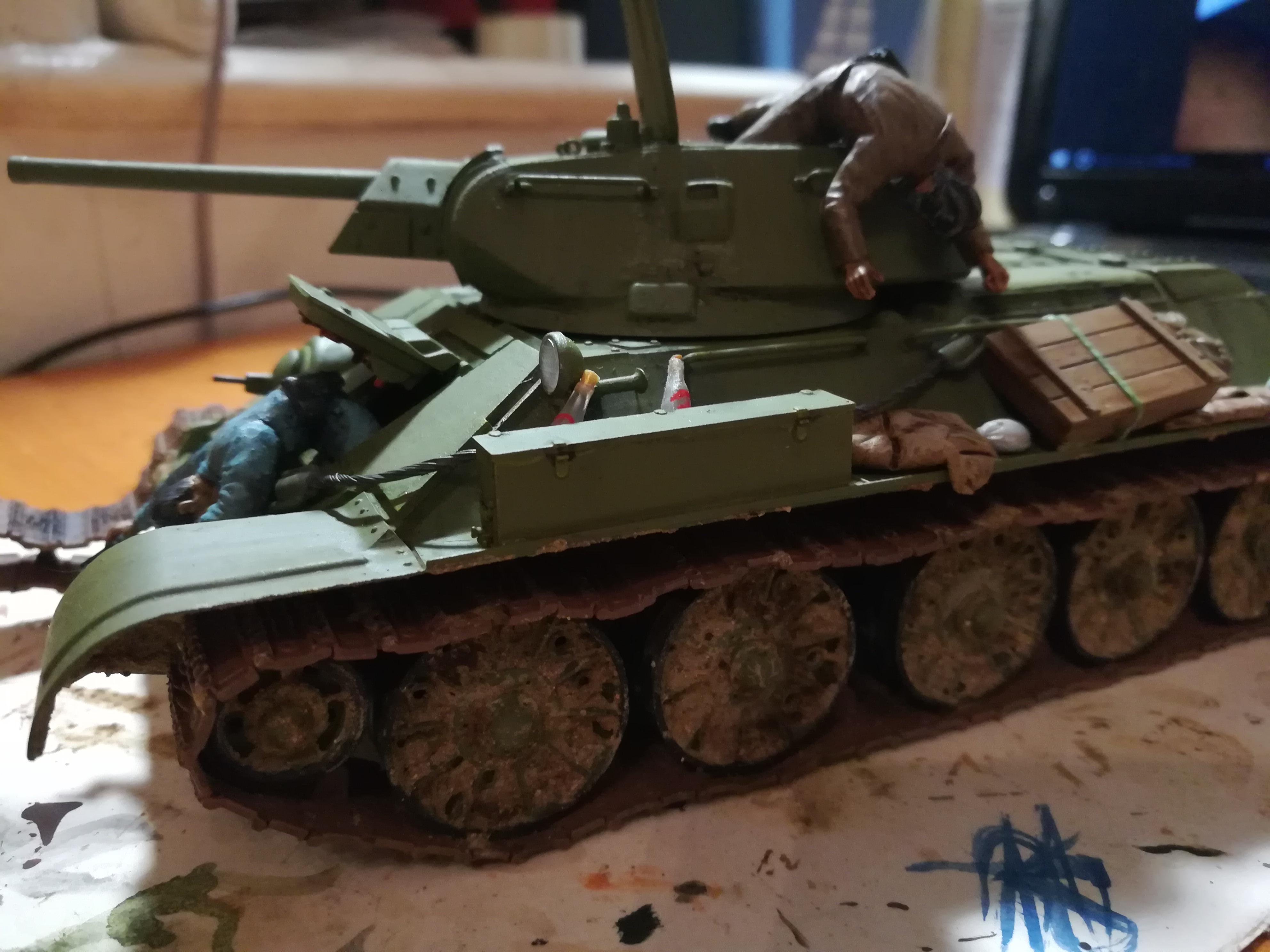 Front de l'Est, 1942 - T34 et Wehrmacht - Zvezda - 1/35 252875IMG20171112180458