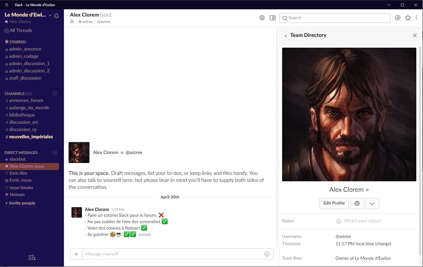 Slack - La ChatBox du forum : guide   253997Alexcookie