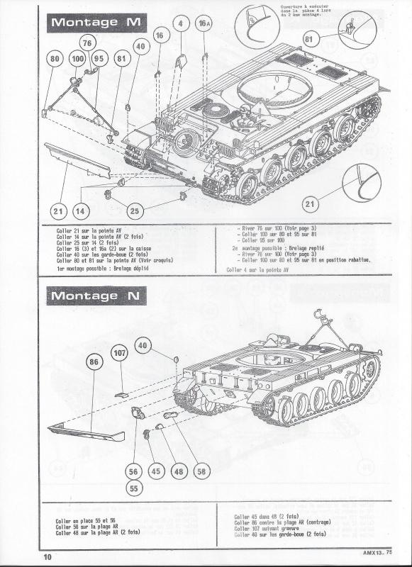 AMX 13 canon de 75 - (Réf. L784) 1/35 261125AMX1375784011Heller135