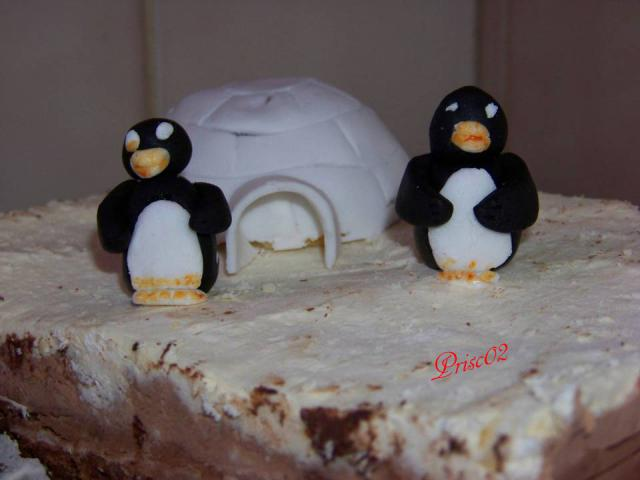 banquise, igloos, pingouins et Grand Nord - Page 4 266099Gateauigloopinguoin