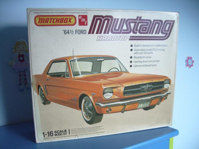 ford mustang 1964 au 1/16 de chez matchbox  268315fordmustangmaquette