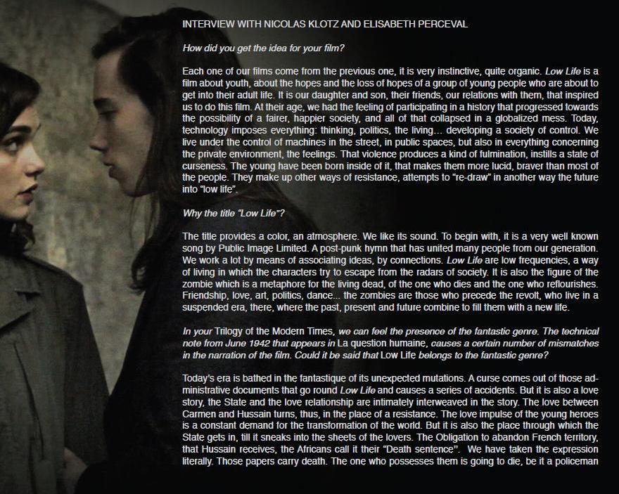 Low Life (Nicolas Klotz et Elisabeth Perceval 2011) 285009LL2