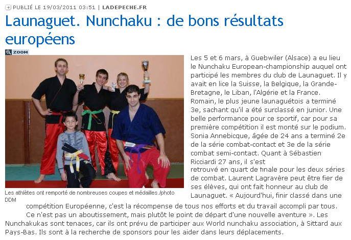 Championnat D'Europe De Nunchaku De Combat 287406Articlenunchaku