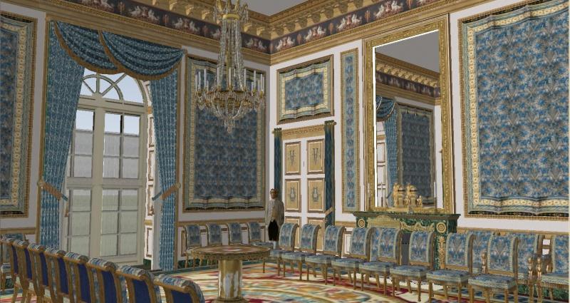 Reconstitution virtuelle du Palais des Tuileries, états Premier Empire et Second Empire 294645SSI5