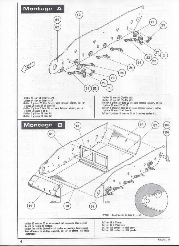 AMX 13 canon de 75 - (Réf. L784) 1/35 308020AMX1375784005Heller135