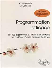 Programmation Efficace Les 128 Algorithmes Qu'Il Faut Avoir Compris et Codés en Python au Cours de sa Vie de Christoph Dürr et Jill-Jênn Vie 308115progefficace