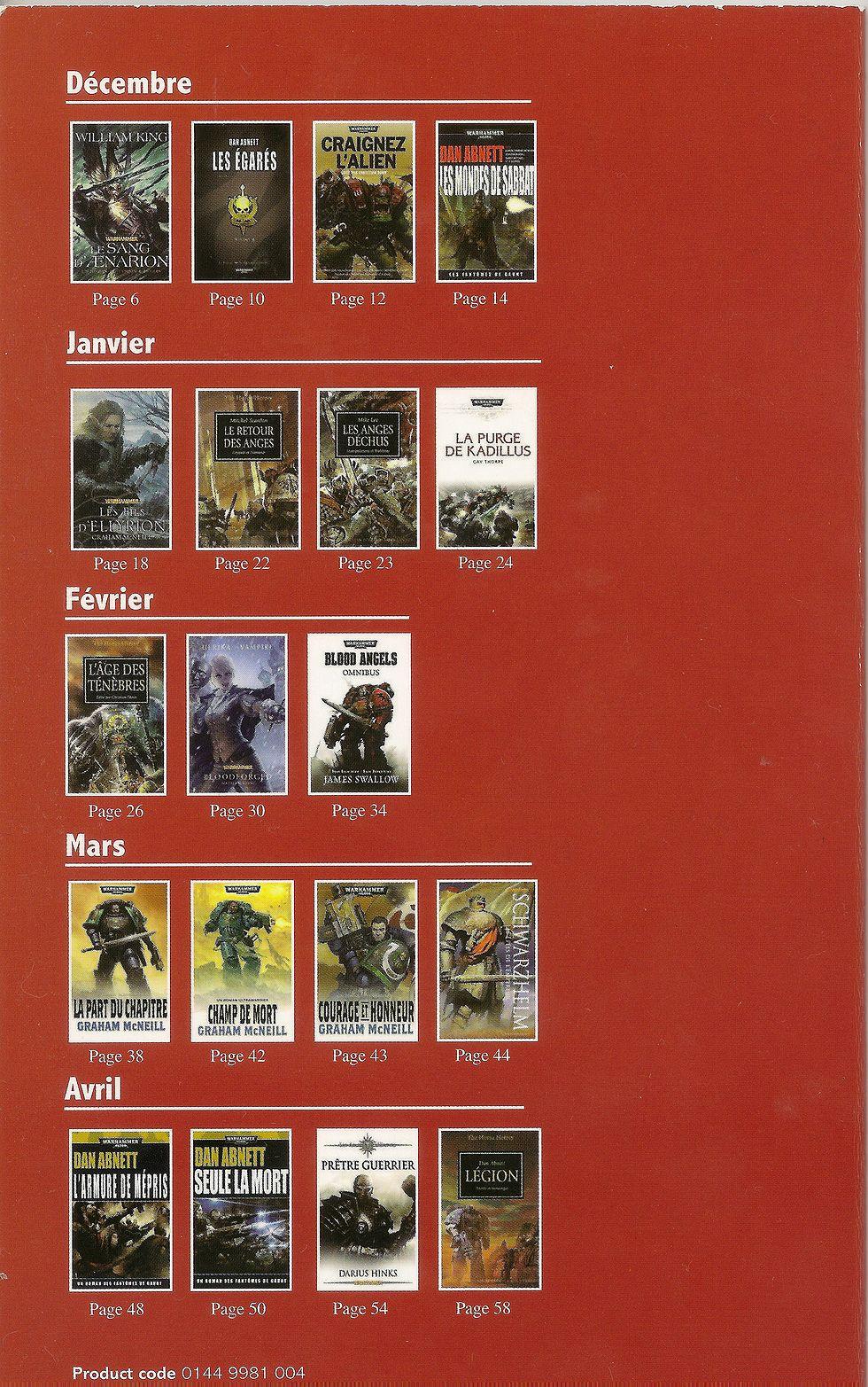 Programme des publications Black Library France de janvier à décembre 2012 - Page 6 310434catalogue2012