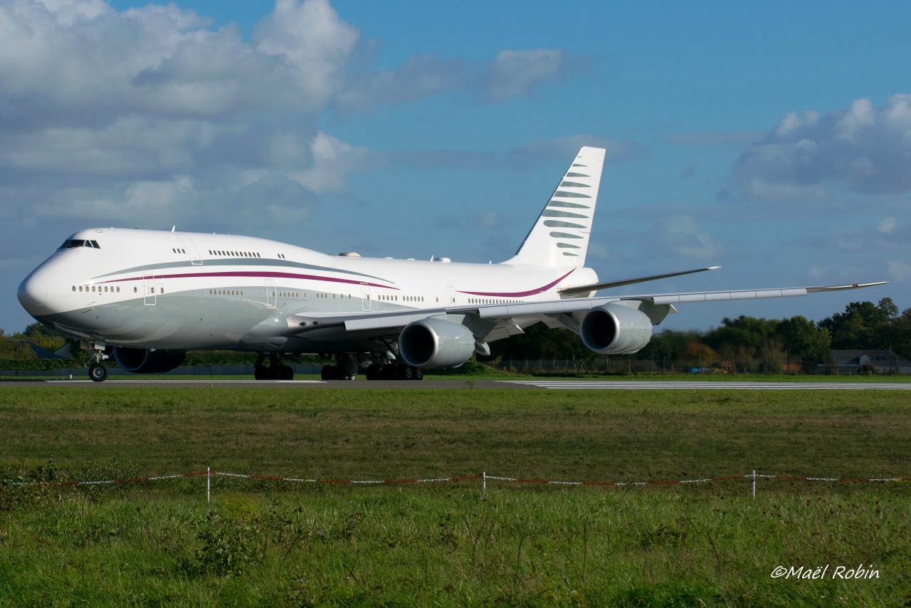 [22/10/2017] B747-8 (A7-HBJ) QATAR amiri flight 314197octobrre8053