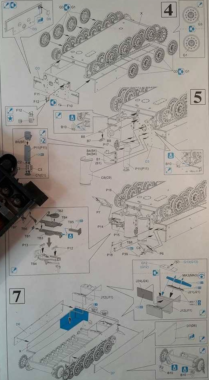 Tiger I Late production - Normandie 1944 - Dragon - 1/35 317922TigerStep6