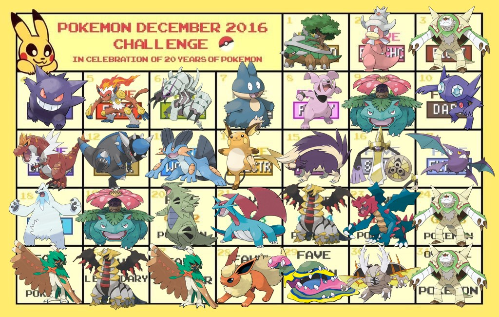 POKEMON DECEMBER CHALLENGE 2016 - CELEBRATING 20 YEARS OF POKEMON 321547CynrdN2XgAAp8K