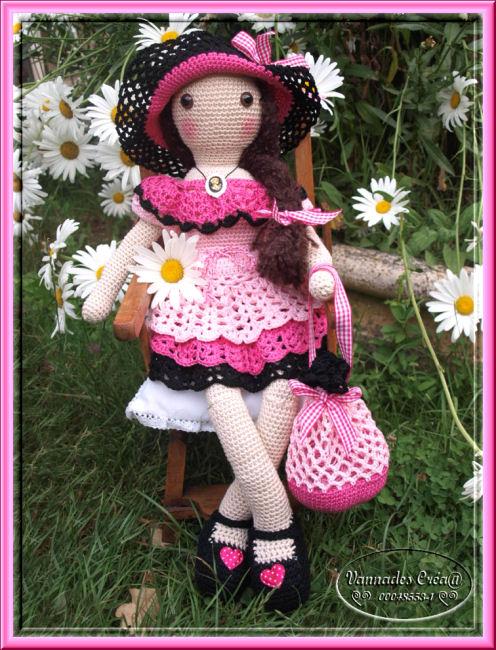 """Miss """" Lancy"""" poupée au crochet 326338pourleforum"""