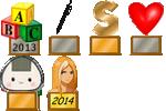 Grand Champion Enigme du Mois 2013 d'Argent + 2e Concours d'Écriture + 3e Concours de Signature + 2e Concours Libre Saint Valentin + 3e Concours Libre Manga + Taraddict Or 2014