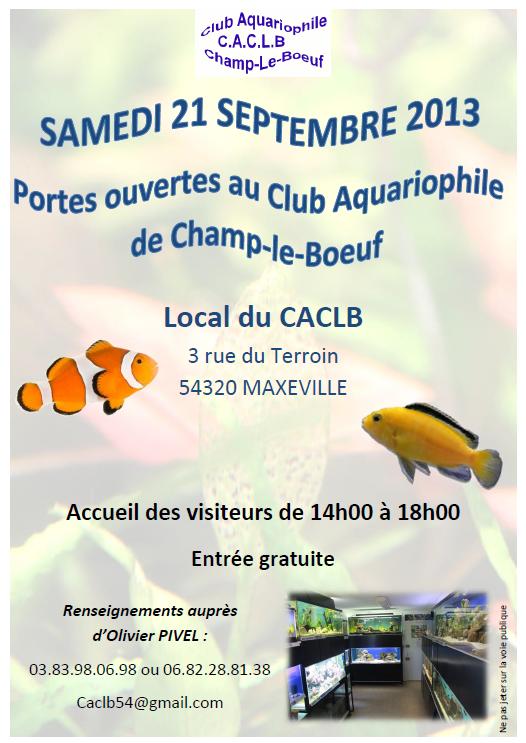 Portes ouvertes - Champ-le-Boeuf (54) - 21 septembre 2013 331455AffichePOCACLB2013
