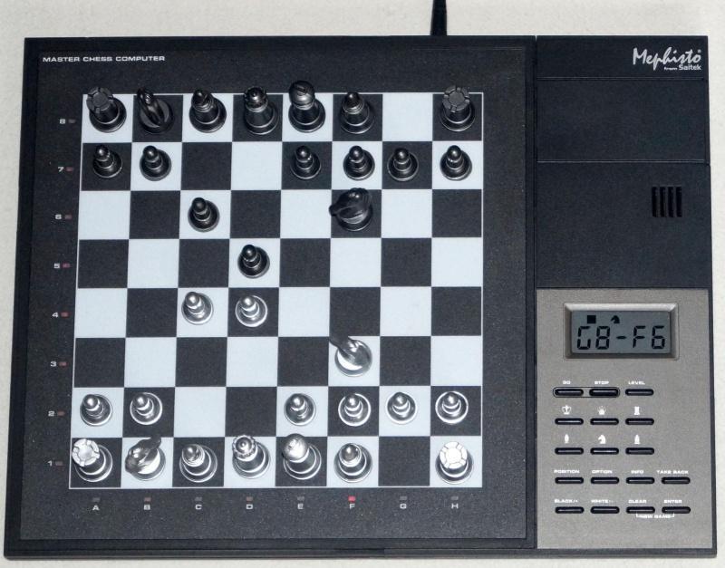 """Mephisto from Saitek : Master Chess Computer 32 MHz """"Je ne le possède pas ?!"""" 334201MephistoMasterChessSchachcomputer32MHzNetzteilca2260ELO"""