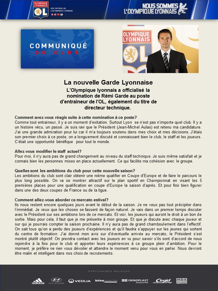 """OLWEB: """"Le site officiel de l'Olympique Lyonnais"""" 336006Prsentationolnomination"""