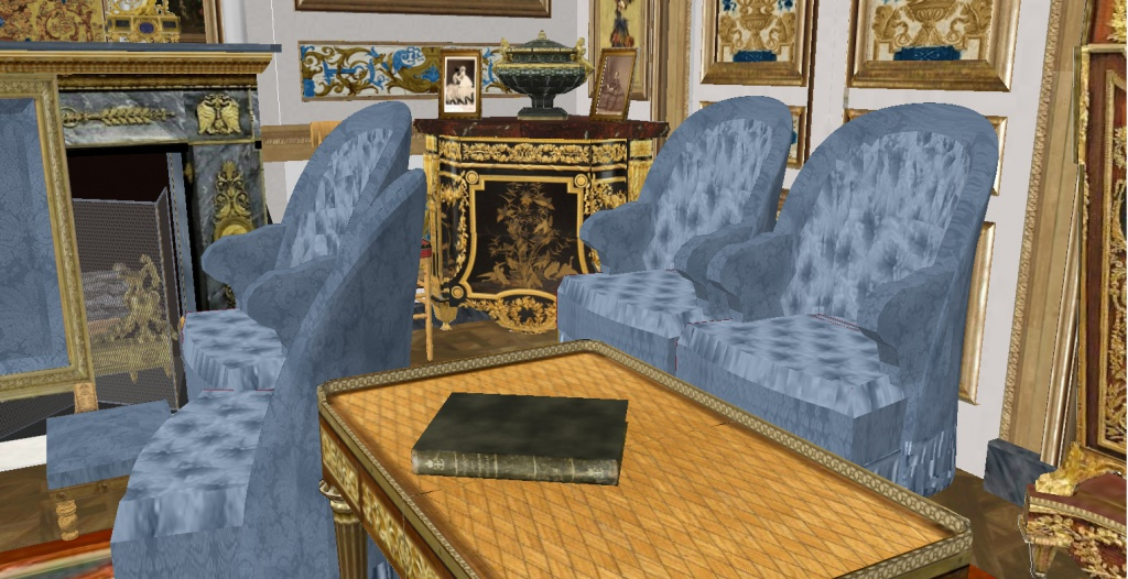 Reconstitution virtuelle du Palais des Tuileries, états Premier Empire et Second Empire 344716vue8