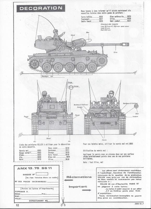 AMX 13 canon de 75 - (Réf. L784) 1/35 346016AMX1375784013Heller135
