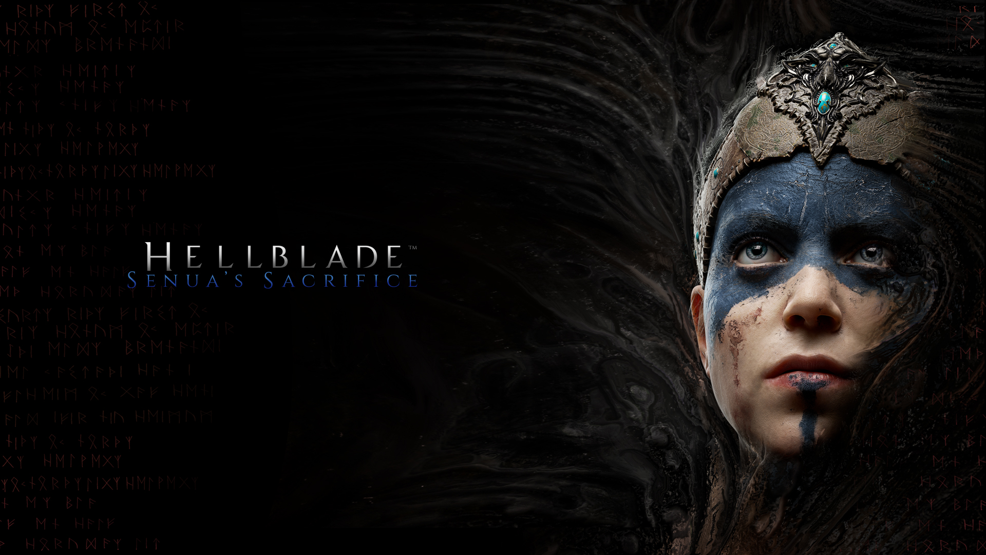 Hellblade: Senua's sacrifice PS4/XBOX ONE/PC 350358HBPosterDesktopWallpaper1920x1080