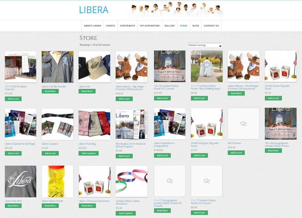 La boutique USA des articles Libera [ancien] 354266liberaUSStore