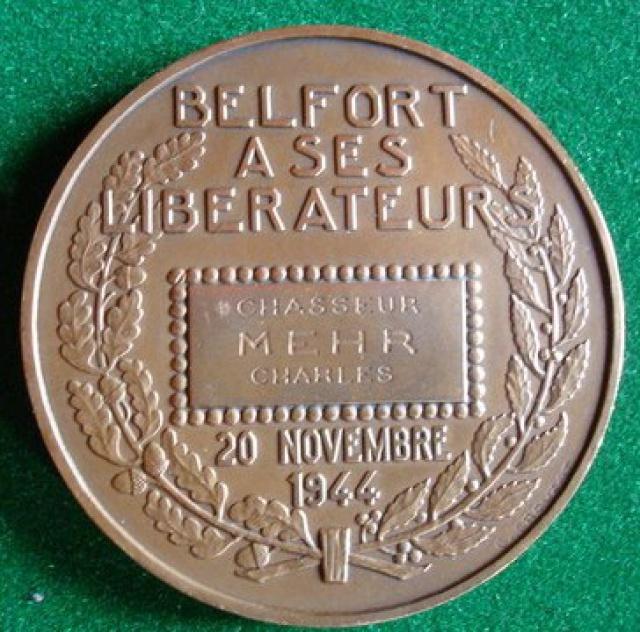 LES INSIGNES DU BATAILLON DE CHOC 1943/1963. 363118MdailleBelfortMEHR