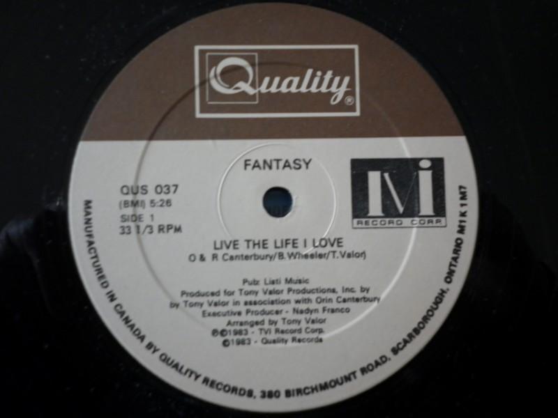 12'-FANTASY-LIVE THE LIFE I LOVE-83-QUALITY REC 368505fantasy