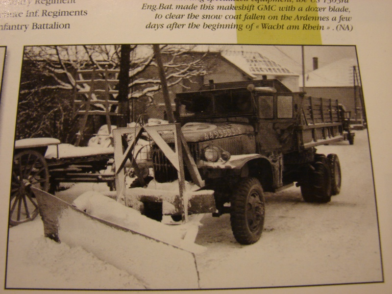 GMC 6x6 italeri 1/35 modifier en chasse neige en 44 dans les Ardennes  374226001