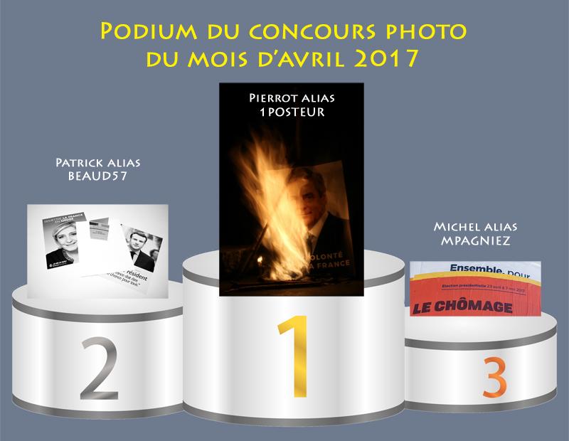 """Concours photo du mois d'avril 2017 - Thème """"Elections"""" (terminé) 377120PodiumAvril"""