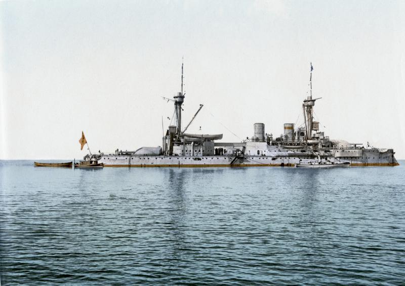 ROYAL NAVY CUIRASSE HMS ERIN  378035SMSKurfuerstFriedrichWilhelm19002