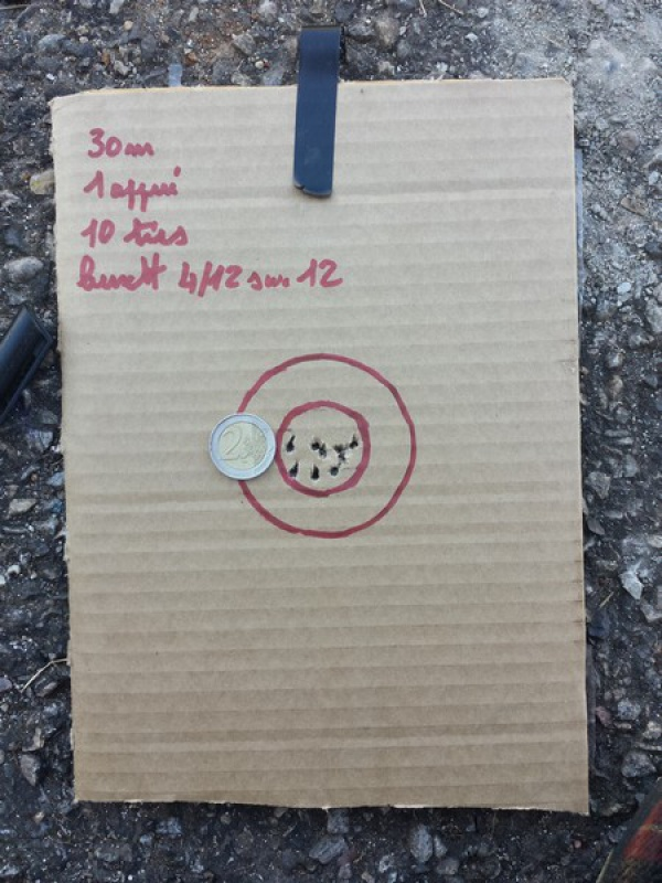 HW77 + lunette 4/12X40 sortie de carton et premiers cartons ! 10 à 50 m 37940120160729192601