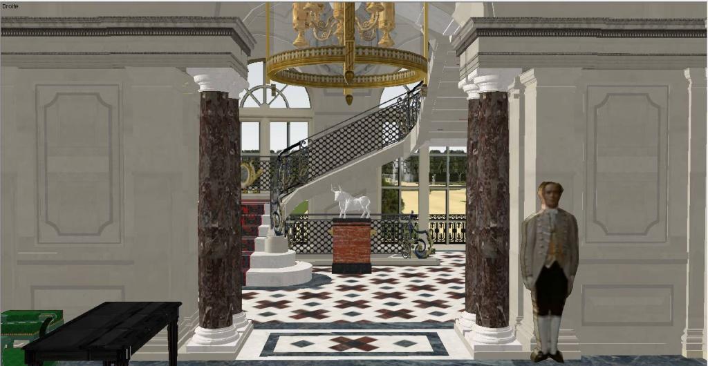 Reconstitution virtuelle du Palais des Tuileries, états Premier Empire et Second Empire - Page 2 37943710escalieravecjardin