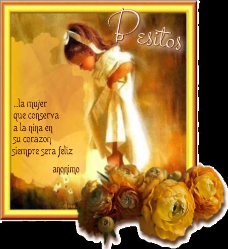Nena con Frase 389588besitos