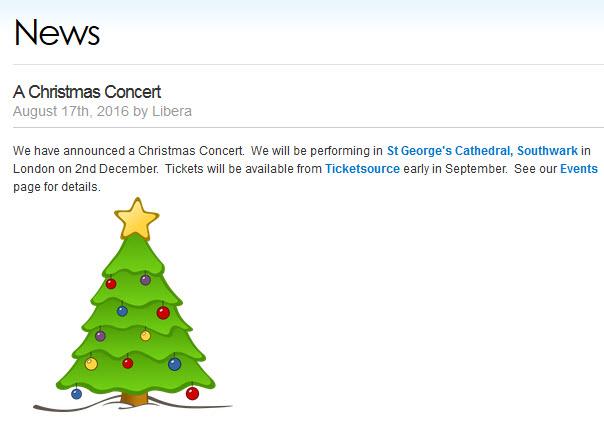 Concert de Noël à Londres le 2 décembre 2016 398172Annonce2