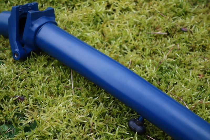 [VENDU] - Tube de direction - potence modèle H en bleu cobalt mat  405680DSC0069800