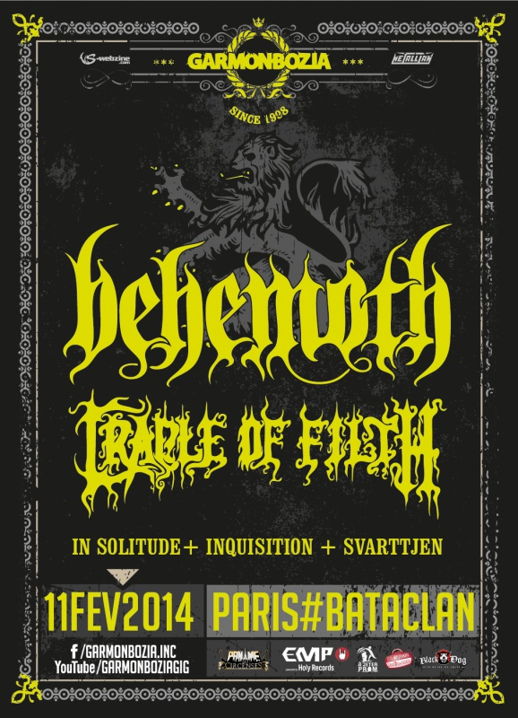 11.02 - Cradle Of Filth + Behemoth + In Solitude +..@ Paris 40962820140211Behemoth2web