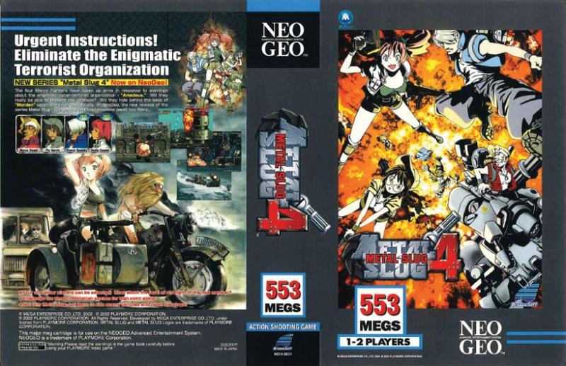 COTE ou EVOLUTION des prix de vente : jeux AES en version US (only) - Page 9 416052MetalSlug4ClassicInsert