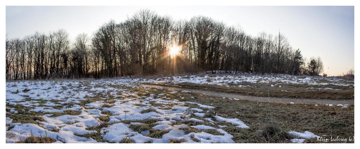 Coucher de soleil et plaques de neige - Plateau de Malzéville (54) 416854Pano18fvrier2013