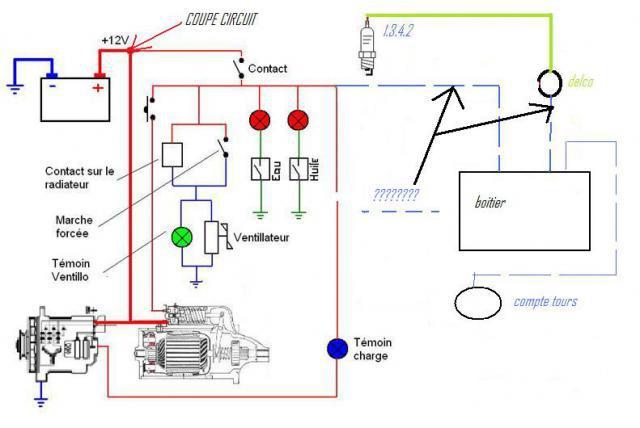 Coupe circuit - Branchement coupe circuit 6 poles ...