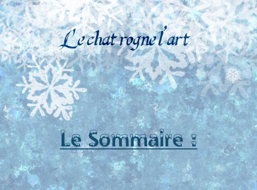 Edition n°2#Le Chat rogne l'Art  424704sommairev301