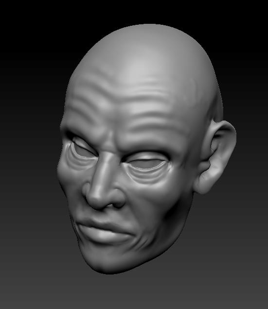 3D avec Zbrush visage humain 426542visagetroisquarts