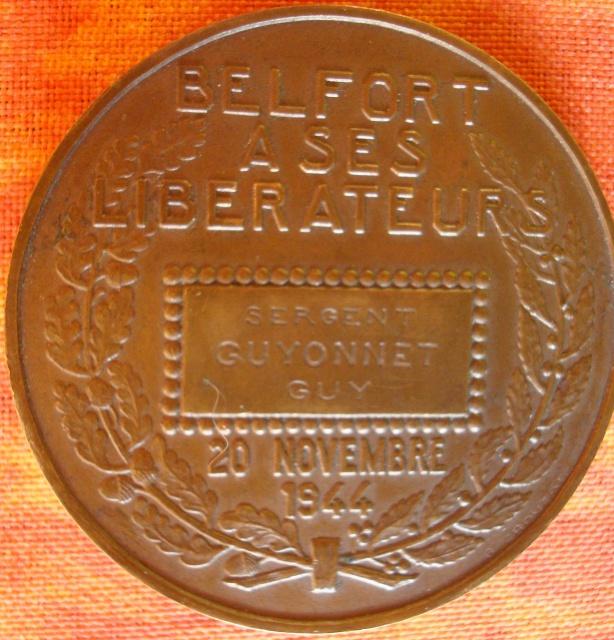 LES INSIGNES DU BATAILLON DE CHOC 1943/1963. 428841MdailleBelfortGUIONNET